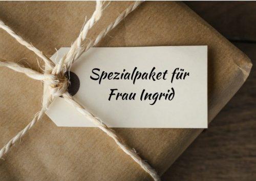 Spezialpaket für Frau Ingrid