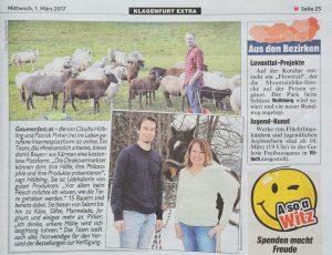 Artikel Gaumenfest Kronen Zeitung