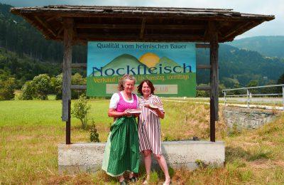 Margarete Puschitz (Vorstand BV Nockfleisch) und Claudia Hölbling (Gaumenfest) freuen sich über die Kooperation