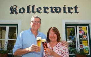 Haubenkoch und Kollerwirt-Gastwirt & Gaumenfest-Initiatorin Claudia Hölbling