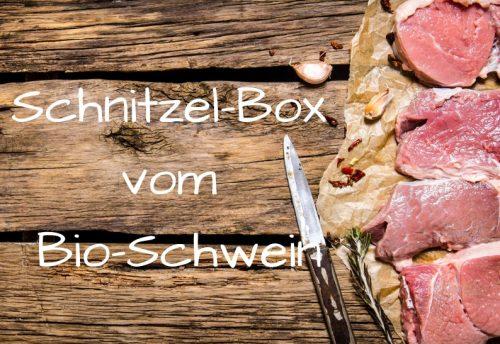 Schnitzel-Box vom Bioschwein