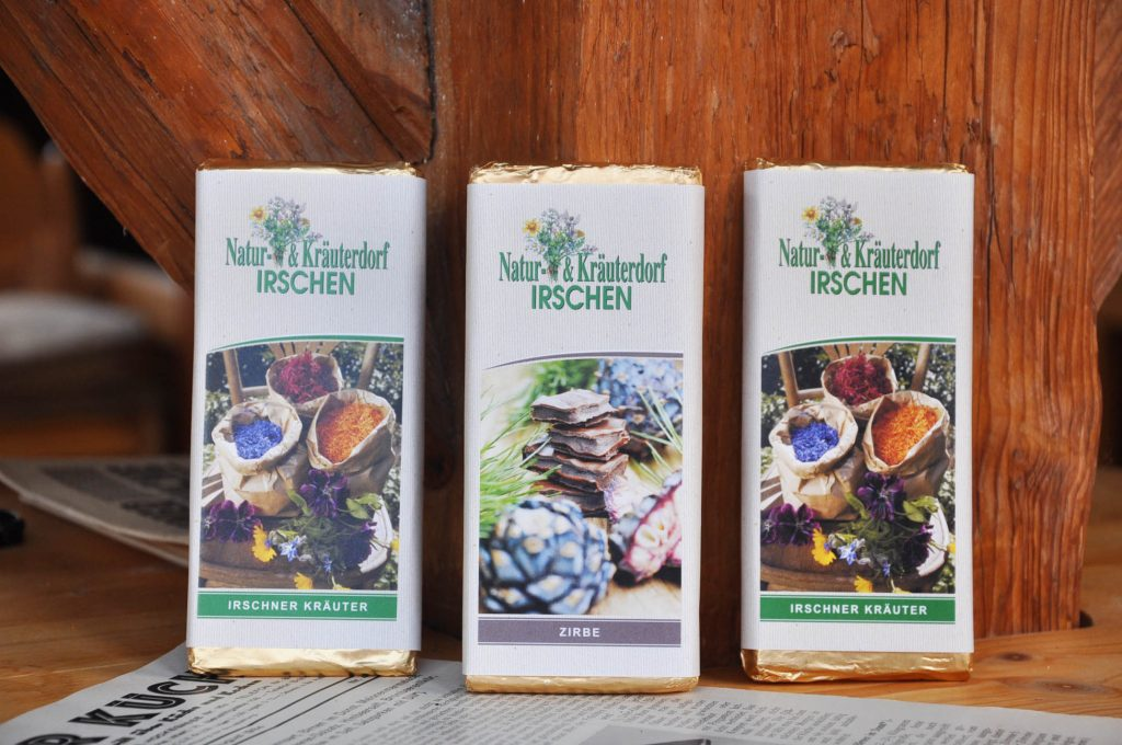 Schokolade aus dem Kräuterdorf Irschen