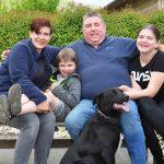 Karin und Lorenz Graf mit ihren Kindern Luca und Larissa